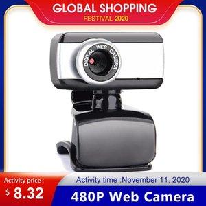 Webcams 480P Web Camera Laptop Webcam USB 2.0 Clip-On With Microphone For Computer PC Desktop