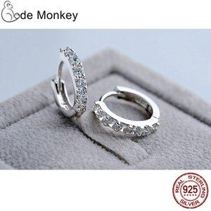 Codemonkey 100% réel 925 Sterling Sier Cercle Cercle Boucle d'oreille pour femmes Faire des bijoux Engagement de la fête de mariage Poison E024