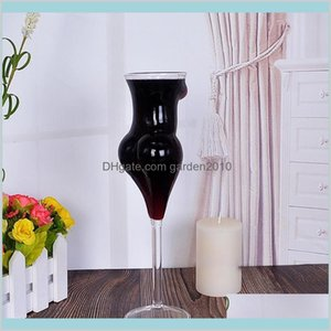 Wine Glasses Drinkware Kitchen, Dining & Bar Home Garden Novelty Glass Cup Whiskey S Sexy Lady Body Shape Chest Beer For Vodka L0308 D