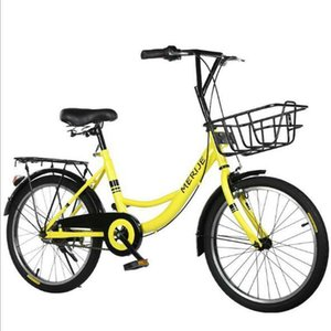 16 inch 20 inch bicycle student adult fashion folding bicycle lady leisure manned commuter yellow