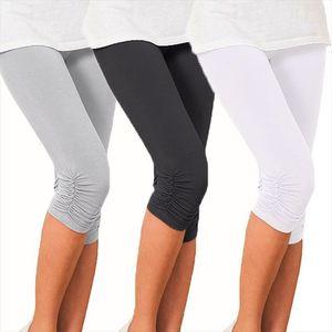 Thin Lace Short Summer Jeggings Womens Leggings Pants Cropped Capris Skinny Black White Push Up Trousers Elastic