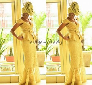 fashion Ankara kitenge African women Prom dresses Mermaid African prints Braids Nigerian Evening Gowns Ghanaian peplum lace Prom Dress