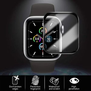 For Apple Watch 6 SE 5 40mm 44mm Films 3D Full Curved Ceramic soft Screen Protector Coverage iWatch Series 2 3 38mm 42mm Not tempered glass