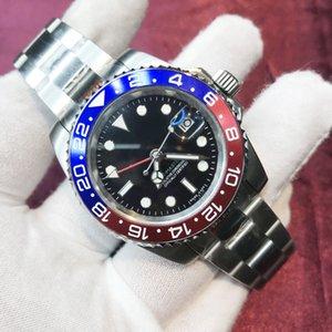 20 цветов мужские часы 2813 синий и красный керамический безель черный циферблат сапфировый стекло 904L нержавеющая сталь светящиеся механические водонепроницаемые наручные часы