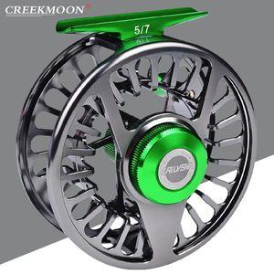 Aluminum 3+1 BB Fishing Wheel Green & Gun Color Reel CNC Machine Right Left Handle Baitcasting Reels