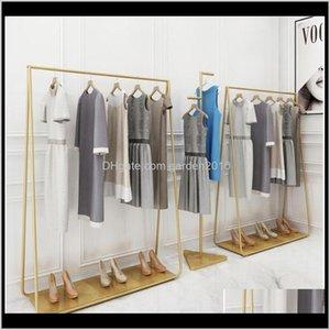 رفوف الأثاث الهبوط معطف شماعات في متاجر الملابس الذهبي الحديد قبعة إطار غرفة نوم متعددة الوظائف حذاء الرف dexp4 evovg