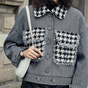 المرأة ملابس الصوف الخريف الشتاء سترة واقية معطف مزاجه الاتجاه