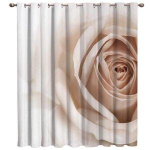 Curtain & Drapes 3D White Rose Window Blinds Bathroom Decor Bedroom Indoor Treatment Ideas Curtains Kids Room