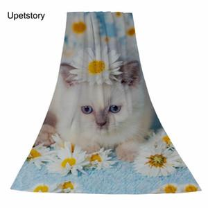 Rectangle Towel Portrait Cat Flowers Bath Adult Sport Travel Children Home Beach Towels 75*150cm 35*75cm Cover-ups