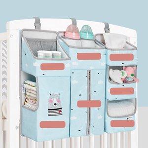 Sunveno Crib Organizer for Baby Crib Hanging Storage Bag Baby Clothing Caddy Organizer for Essentials Bedding Diaper Nappy Bag 796 Y2