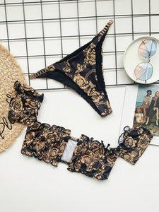 2021 Micro Swimsuit Women Bikinis Pleated Bandeau Sexy Bikini Set Chain Swimwear Female Luxury Aristocratic Swimming Suit 004