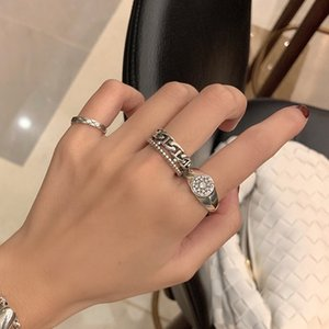 925 Sterling Silver Opening Ring Female Fashion Niche Design Taiyin Hanfeng Net Red Indifference Personality Jewelry Rxd6