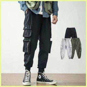 Kış Rahat Pantolon Artı Boyutu Erkek Giyim Gevşek Takım Ayak Bileği Bantlı Capri Kargo Erkek Moda İpli Sweatpants