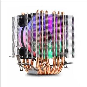 Cooler Radiator Color Light Silent PWM 130W TDP For Intel 1150 1155 1156 1366 2011 X79 X99 AM2 AM3 AM4 Ventilador Fans & Coolings