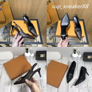 2021 women dress classic single shoes early spring leather rear empty sandals side high heels designers luxury comfortable versatile set of big size 35-42 with box