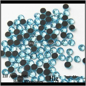 Sewing Notions Tools Apparel Drop Delivery 2021 High Quality Flatback Iron On Fix Rhinestones 110 Aquamarine For Ss6 Ss10 Ss16 Ss20 Ss30 Kzgf