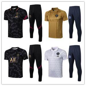 2021 Real Madrid Paris Futebol Tracksuit Homens Futebol Desgaste Mbappe Pogba Hazard Messi Survitement Maillots De Foot Enfants Adulto Chandal Kit