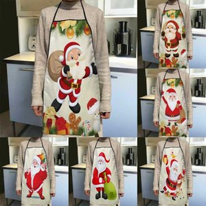 Aprons Christmas Santa Claus Apron Kitchen Decor For Women Oxford Fabric Cleaning Pinafore Home Cooking Accessories