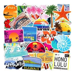 100 Hawaii Hawaiian Travel Stickers Trolley Case Car Refrigerator Graffiti Summer Hand Bill D8GA723