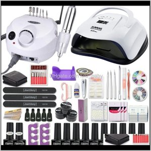 Kits Manicure Acrylic Set With 1208054W Nail Lamp 35000Rpm Drill Hine Choose Gel Polish Art Tools Kauiv Kcinm