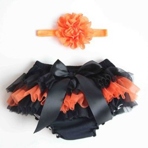 holloween Summer Girls Tutu Shorts with headband All Chiffon Ruffle Around Baby Girls Bloomer Fashion Middle Waist Shorts for Girls 599 Y2