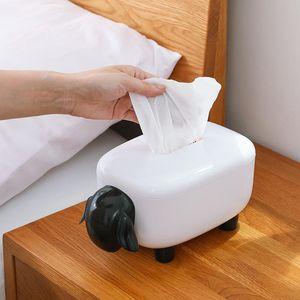 Tissue Boxes & Napkins Sheep Box Paper Toilet Household Tea Table Simple Face Cloth Storage Cute Cartoon
