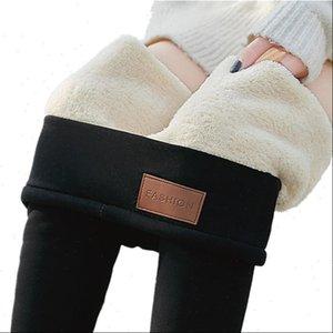Women Legging Plus Size Winter Cashmere Leggings High Waist Slim Thick Warm Jeggings Feminine Black Velvet Pants