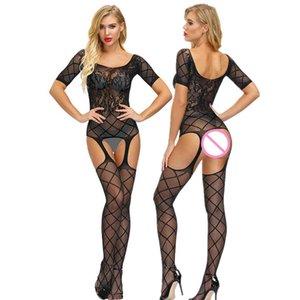 Sexy lingerie Women Teddies Bodysuits hot Erotic body suit elasticity mesh Porno Bodystocking sexy underwear costumes catsuit