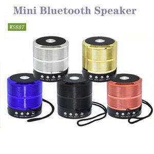 Wireless Bluetooth Speaker Mini Portable Speakers Plug-in Card Double Horn WS887 Subwoofer Shower Car Handsfree Receive Call Music Suction for PC Phone Ipad player