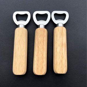 Apribottiglie manico in legno Apriscatoli Portatile Birra Apristire Bar Cucina Party Strumenti Birra Bottiglia Birra Apriscatole Opener Bottiglia di vino Cyz3061