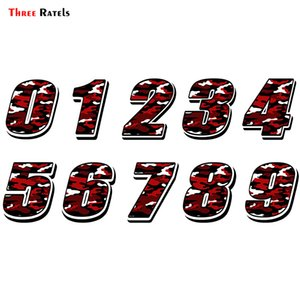Three Ratels FTC-871# Car Styling Racing Number Waterproof Decals And Stickers Motocross Auto Sticker Bike