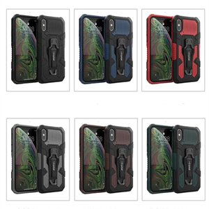 Mech Warrior Phone Cases TPU+PC+Metal 3 In 1 Mobile Phones Case Cover For iPhone 12 Mini 11 Pro Max X Xs Xr 7 8 6S Plus SE2020 Motorola