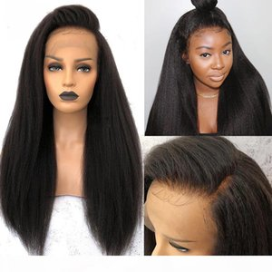 Kinky Straight Wig 13*4 Lace Front Human Hair Wigs BEAUDIVA Remy Pre Plucked Yaki Lace Wig 4x4 Lace Closure Wig For Black Women