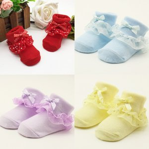Lawadka One Tamaño Sock Baby Girls Ruffle Socks Newborn Infant Socks Otoño Invierno Bebé Ropa Ropa Accesorios 0-12 Month 915 x2