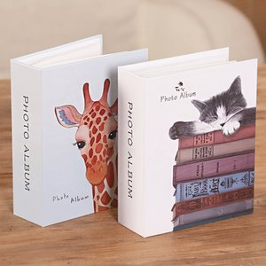 6 inch 100 Pictures Pockets Cartoon Photo Album Interstitial Photos Book Case Kid Album Storage Family Wedding Memory Gift 210330