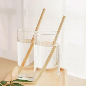 Beverage Drinking Straws milk tea natural bamboo straw bamboo color Barware Kitchen Coffee tools 7mm*200mm T2I51870