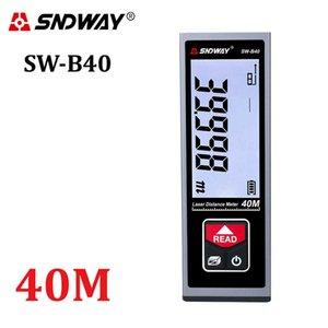 SNDWAY Laser Distance Meter 40m 50m 60m Range Finder Laser Tape Measure Trena Lazer Roulette Rechargeable Digital Rangefinder 210719