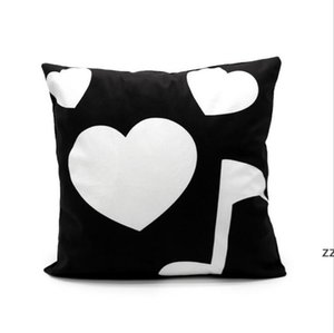 Sublimation Pillow Case Thermal Transfer Pillowcovers Short Plush Pillowcases Moon Heart Pillowcushions Polyester Soft HWF10698