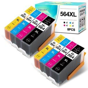 Ink Cartridges 8PK Cartridge 564XL Compatible 564 -564 For 3520 3521 3524 3526 3522 3070A 4610 4620 4622 5510 5514 5520 552