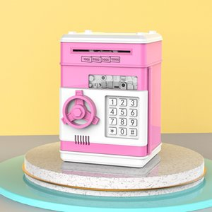 Electronic Piggy Bank ATM Password Money Box Cash Coins Box Gift With Automatic Saving Bank Banknote ATM Deposit Safe Music H8E5 682 V2