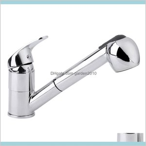 Kitchen Faucets Faucets, Showers & Accs Home Garden Modern Style Stainless Steel Pull Out Chrome Finish Swivel Spout Basin Sink Taps S