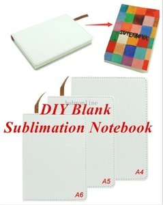 Blank Sublimation Notebook Party Favor A4 A5 A6 PU-Leather Cover Soft Surface transfer Printing consumables DIY Gifts