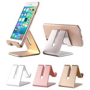 Simple Design Metal Holder Smart Bracket Desktop Stand Non-slip No Magnetical Cell Phone For iPhone Samsung