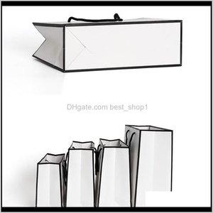 Fashion White Kraft Paper Handbag Good Heavy Tolerance Tote Package Clothing Shoe Cap Gift Packing Wrap 1 86Gr L2 Afmpk C4Joz