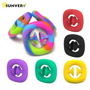 SNAPPERZ fidget toys simple dimple Unzip Hand Grip antistress popit Sensory Figet Toys for Adult Squishy Arrow Pinch Ball