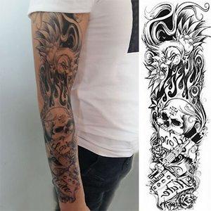 1 шт. Momento Mori Временная татуировка Наклейка Flamingo Скелет Полная Цветочная татуировка с ARM Body Art Большой Большой Поддельный стикер татуировки