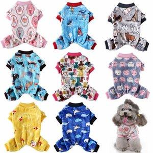 Мягкие флисовые собаки Pajamas зимняя домашняя собака одежда теплый щенок комбинезон одежды чихуахуа французские бульдоги комбинезон рождественской костюма