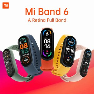 Xiaomi Mi Band 6 Braccialetto Smart Bracciale 4 Colore Touch Screen Miband 5 Wristband Fitness Blood Oxygen Track Frequenza cardiaca Monitorsmartband da Youpin
