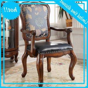 الكراسي الجلدية الأوروبية الصلبة الخشب الأسرة الترفيه الكمبيوتر دراسة كرسي طاولة الطعام الأمريكية