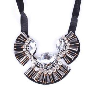 Handmade Jewerly Maxi Choker Necklace Women Black Ribbon Statement Bohemia Collares Mujer Chokers